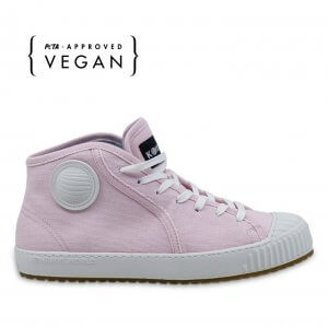 Productshot of Komrads ICNS Partizan rose sustainable sneakers